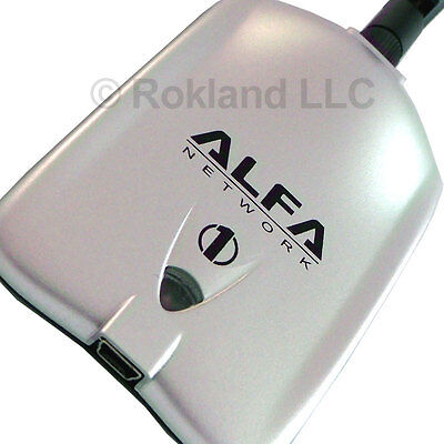 AWUS036H Alfa Networks 1000mW USB Wi-Fi Adapter Unit + 5 dBi antenna, NO MOUNT