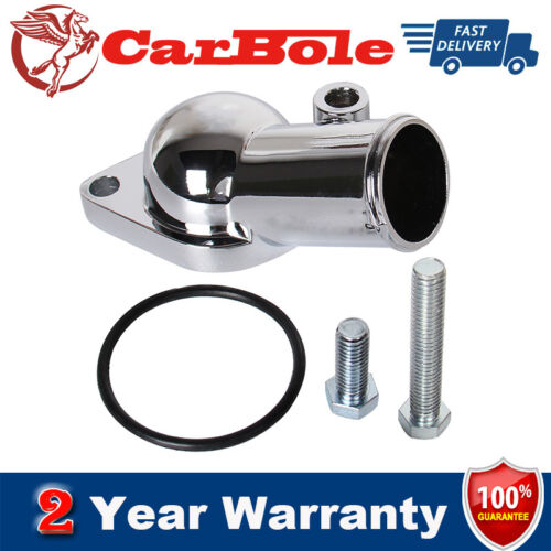Chrome Water Neck For Chevy 45 degree V6 V8 Thermostat Housing Small Big Block