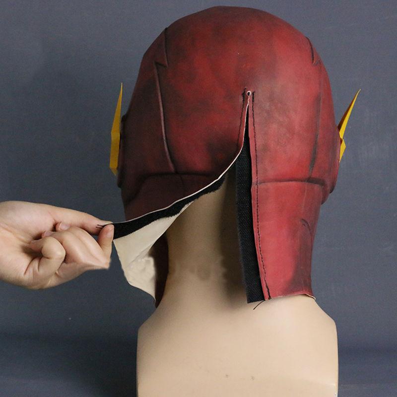 2019 The Flash Mask Cosplay Allen Helmet Halloween Full Face Latex Mask Hood New