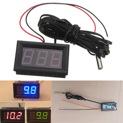 Led Temperature Meter Detector Sensor Probe 12v Digital Thermometer Tester C