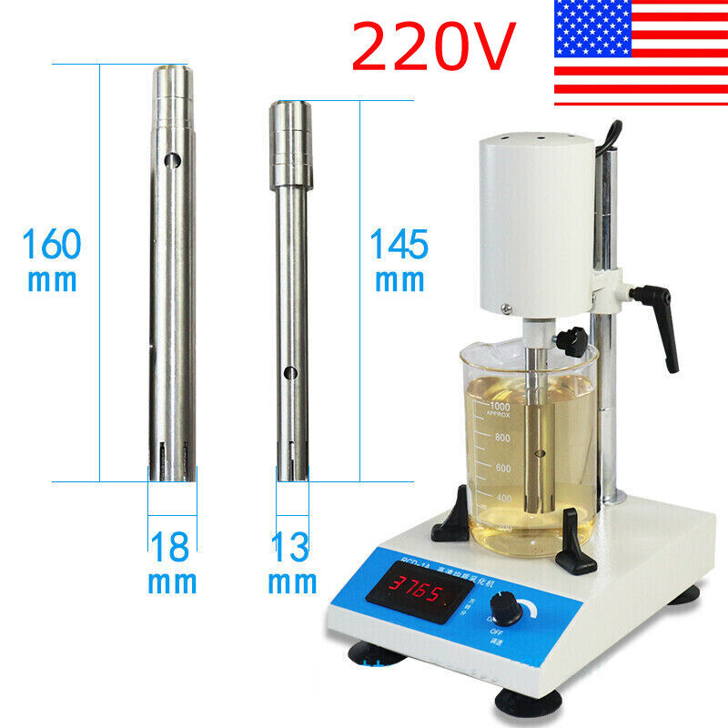 220V RCD-1A High Speed Emulsifying Homogenizer Adjustable Laboratory Dispenser