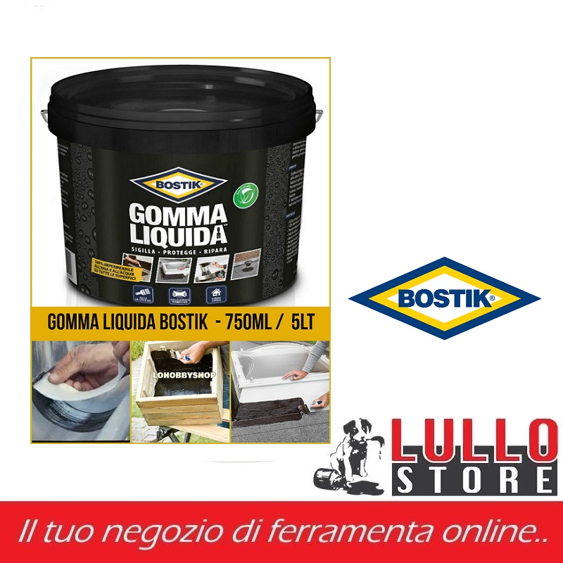 Gomma liquida sigillante Bostik 750ml/5lt impermeabilizzante