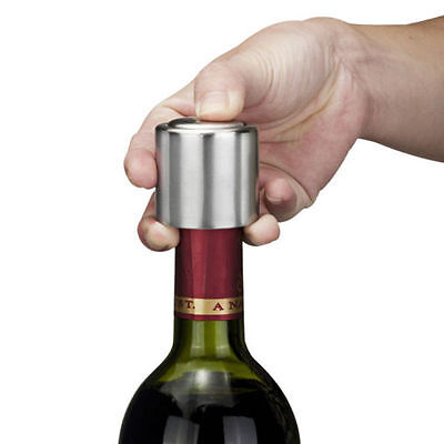 Stainless Steel Vacuum Sealed Red Wine Bottle Spout Liquor Flow Stopper Pour Cap ()