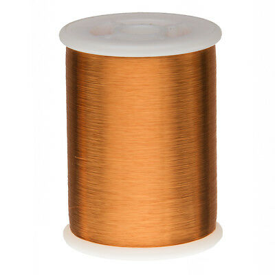 """42 AWG Gauge Heavy Formvar Copper Magnet Wire 1.0 lbs 49600' 0.0029"""" 105C Amber"""