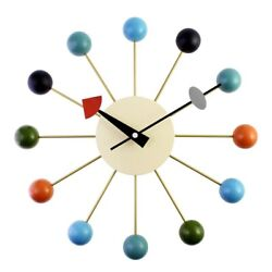 Simple Colorful Ball Modern Clock Art Simulation Sport Decorative Candy WalB6V6