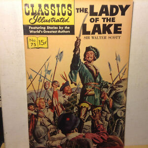 Classics Illustrated LADY OF THE LAKE No.75 - HR#169 - VF/NM 196
