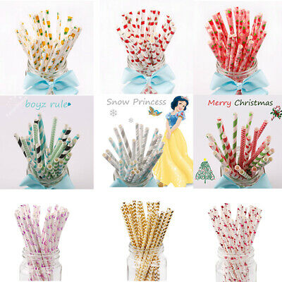 25PCS Birthday Drinking Paper Straw Baby Shower Favor summer Beach Party Decor](Beach Wedding Shower Decorations)