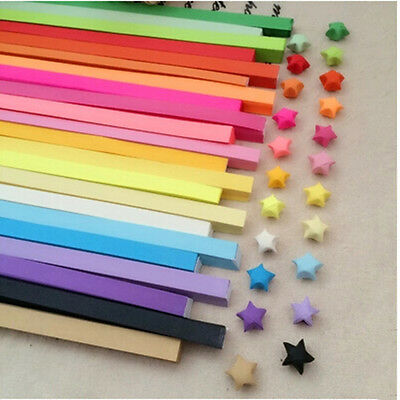 80pcs Origami Lucky Star Paper Strips Folding Paper Ribbons Colors