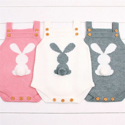 Easter Rabbit Newborn Baby Boy Girl 3D Romper Bodysuit Jumpsuit  ***UK SELLER***
