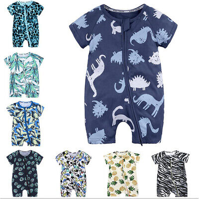 Toddler Kids Baby Boys Printing Romper Jumpsuit Outfit Clothes Summer Playsuits