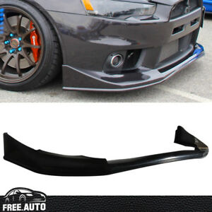 Fit 08-15 Lancer EVO 10 X Evolution V-Style JDM Front Bumper Lip Spoiler Bodykit