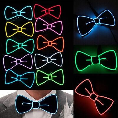 LED Men's Wire Bow Tie EL 10 Colors For Party DJ Dance Christmas Festival Flash](Christmas Bow Tie)