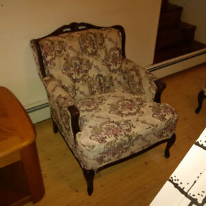Queen Anne style couch and chair