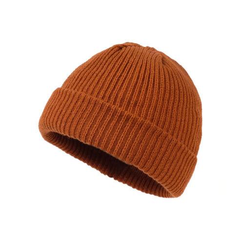 UNISEX Warm Winter Knit Cuff Beanie Cap Fisherman Watch Cap Daily Ski Hat Skully
