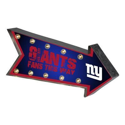 New York Giants Arrow Marquee Sign - Light Up - Room Bar Decor NEW 18
