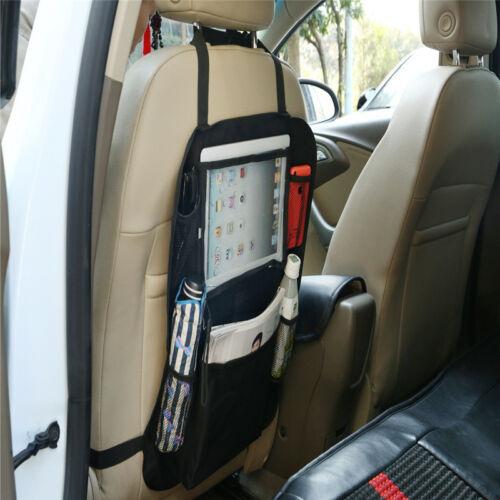 Car Seat Back Organiser Tablet Holder Protector Bottle Toy Kick Mat Storage CA