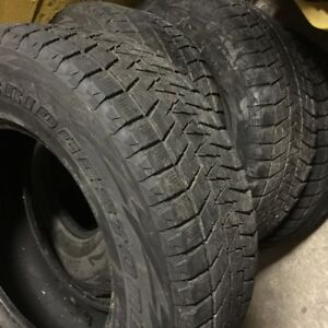 1 Set Winter Tires - Bridgestone Blizzak 265/70R17 115R $500.00