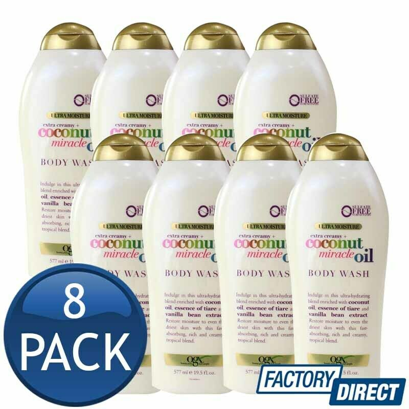 Details about 8 x OGX BODY WASH COCONUT MIRACLE OIL TIARE ESSENSE VANILLA  BEAN EXTRACT 577mL