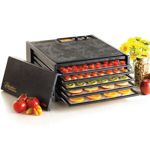 Excalibur 3526TB 5-Tray Dehydrator with Timer, Black