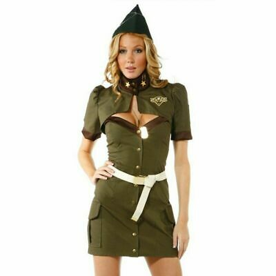 Women Military Uniform Costume Dress Miniskirt proper welcome for your - Women Military Costumes