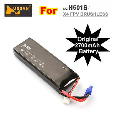 Hubsan H501S Original Replace Lipo Battery 7.4V 2700mAh 10C RC Drone Spare Parts