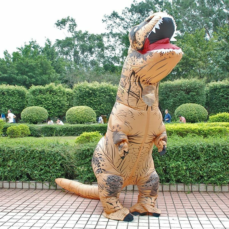 Adult Inflatable Costume Dinosaur Costumes T REX Blow Up Fan