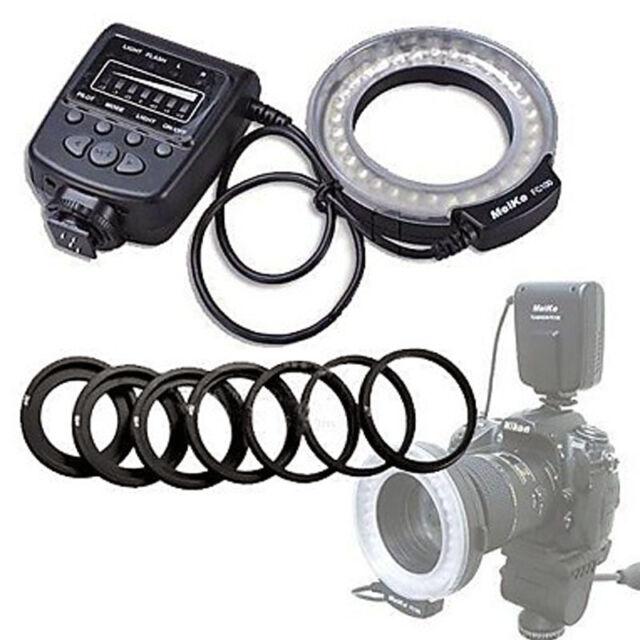 Meike FC-100 LED Macro Ring Flash Light F Canon Nikon Pentax Olympus DSLR Camera