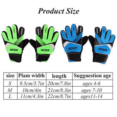 (Goalkeeper Gloves Child Kids Teens Youth Football Soccer Goalie Training Gear US)