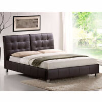 Contemporary UPHOLSTERED/FAUX LEATHER Platform Beds