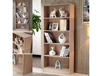 Bookcase shelf tall wood effect shelves bookshelf 171cm shelving unit