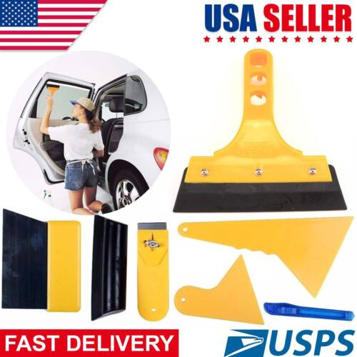 7 in 1 Car Window Auto Film Bubble Tools Squeegee Scraper Clean Paint Kit Tint