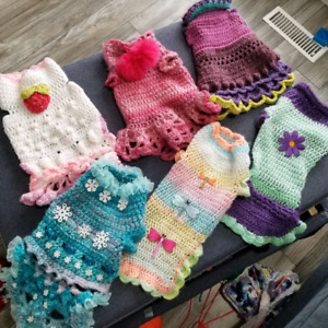 Small Dog Sweaters and Dresses - Crochet