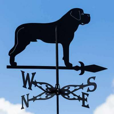 Large Black Steel St Bernard Dog Weathervane