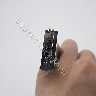 1 Steel Endo Reamer Gauge Finger Ring Rulers Foot Span Measure Scale Dental 35mm