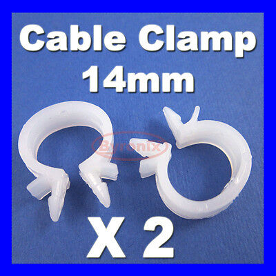 CABLE PIPE CLAMP WIRES WIRING LOOM HARNESS CLIP HOLDER 14mm