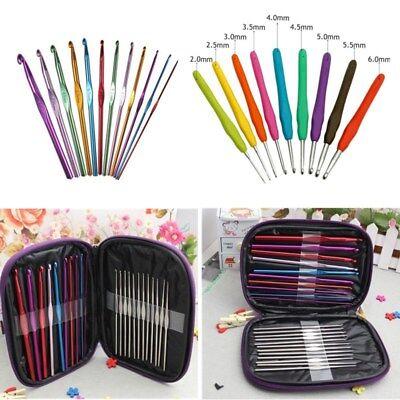 Aluminum Bamboo Plastic Crochet Hooks Knitting Needles Hooks Weave Crafts Set ()