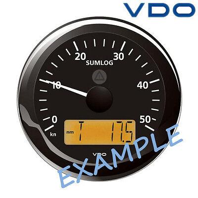 """VDO Viewline Sumlog Speed Gauge LCD Marine Boat 85mm 3"""" 12 kn Black A2C59510100"""