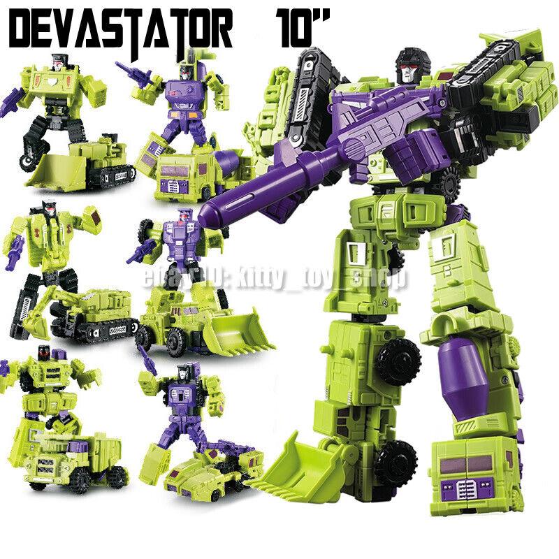 HASBRO TRANSFORMERS DEVASTATOR COMBINE 7 ROBOT TRUCK CAR ACTION FIGURES TOY KID