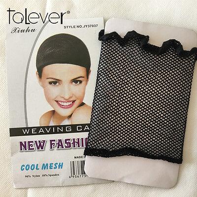 Weaving Cap Open End Black Cool Mesh Wig Cap Elastic Hair Net Free Shipping