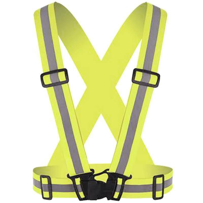 Hi Viz Vest High Vis Safety Visibility Waistcoat Reflective Belt Workout Strap Business & Industrial