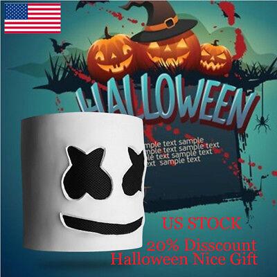 MarshMello DJ Mask Full Head Helmet Halloween Cosplay Mask Bar Music Props F&M
