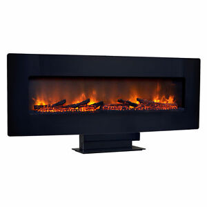 48-In Curved Wall Mount or Tabletop Electric Fireplace