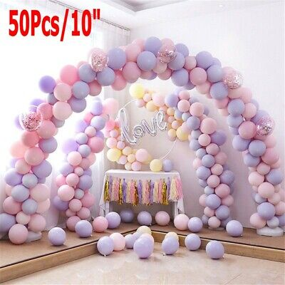 10inch Big Round Latex Balloon Macaroon Color Wedding Birthday Party Decor Band - Big Round Balloons