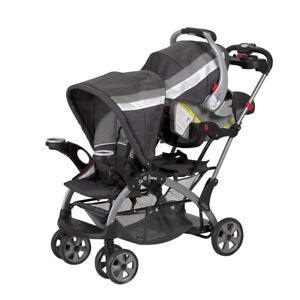 Baby Trend Sit N Stand Ultra Double Strollerwith Car Seat