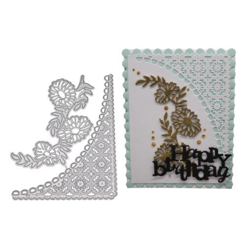 Metal Floral Frame Cutting Dies Stencil Gift Card Embossing Craft DIY Die-Cut