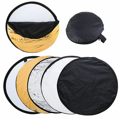 """24"""" 60CM 5-in-1 Photography Studio Multi Disc Photo Collapsible Light Reflector"""