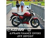 Keeway RKS 125cc Lightweight Naked Style Commuter Motorcycle Learner Legal A1