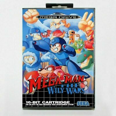 Mega Man Wily Wars Sega Mega Drive Game Cartridge with Box