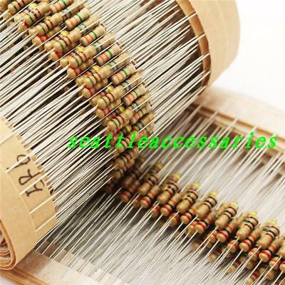 1000pcs 14w 0.25 Watt Carbon Film Resistor 5 1m 2m 1k-910k Ohm