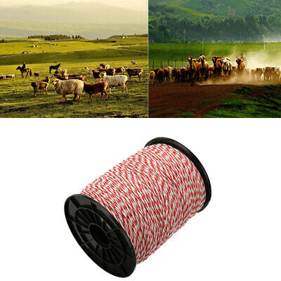 500m Polywire Electric Fence Stainless Steel Poly Wire Horse Sheep 1 Roll